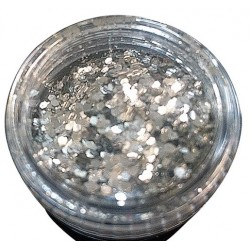 Glitter Holográfico Prata