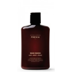 Previa Man Wash Hair + Body + Shave 250ml