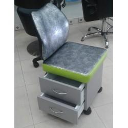 Cadeira Manicura e Pedicure C/ Encosto