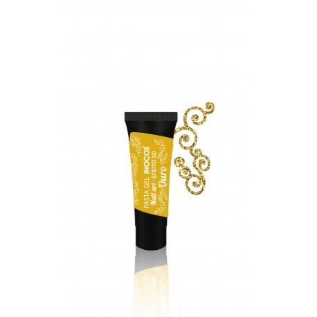Pasta Gel Ouro Efeito 3D Inocos 5ml
