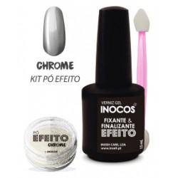 Kit Pó Efeito Chrome Inocos 1gr.