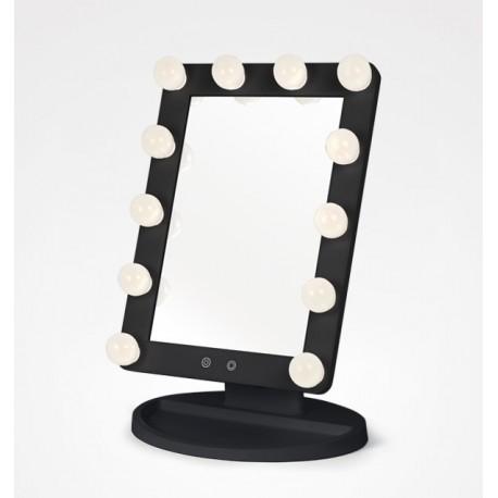 Espelho Mesa Maquilhagem Light Stage Preto