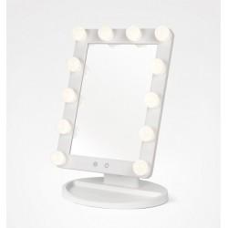 Espelho Mesa Maquilhagem Light Stage Branco