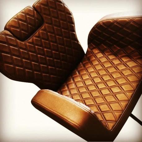 Cadeira York Castanho Dourado